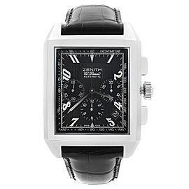 Zenith Grande Port Royal El Primero Chrono Steel Black Dial Watch 03.0550.400