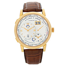 A. Lange & Sohne 1 Time Zone 41.9mm 18K Yellow Gold Hand Wind Mens Watch 116.032