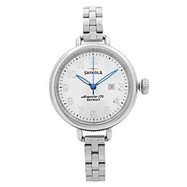 Shinola The Birdy Stainless Steel Pearlized White Dial Ladies Watch S0110000206