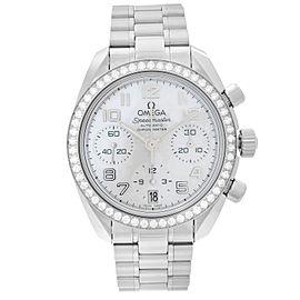 OMEGA Speedmaster Steel MOP Dial Diamond Bezel Ladies Watch 324.15.38.40.05.001