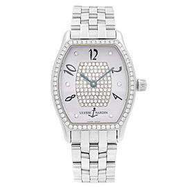 Ulysse Nardin Michelangelo Steel Diamond MOP Dial Automatic Ladies Watch 103-48