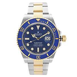 Rolex Submariner 41mm Steel 18K Yellow Gold Blue Dial Automatic Watch 126613LB