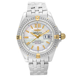 Breitling Windrider Cockpit Stainless Steel MOP Dial Automatic Mens Watch B49350