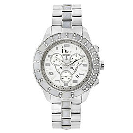 Dior Christal 39mm Stainless Steel Diamond White Dial Quartz Watch CD114311M001