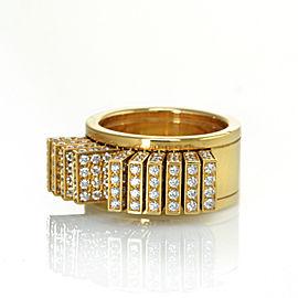 Cartier 18K Yellow Gold Fan Pallets Diamond Ring 4.50cttw Size 56