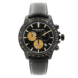Raymond Weil Tango Marshall Amplification Black Dial Mens Watch 8570-BKC-MARS1