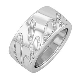 Chopard Chopardissimo 18K White Gold Diamond Ring 0.35cttw Size 54 US 7