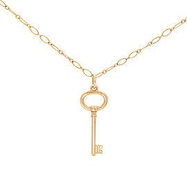 Tiffany & Co. 18K Rose Gold Key Pendant Chain Necklace