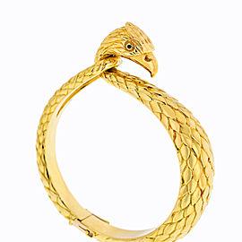 Cartier Vintage 18K Yellow Gold Falcon Eagle Bangle Bracelet 1960's