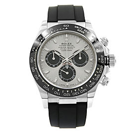 Rolex Cosmograph Daytona 18K Gold Ceramic Steel Silver Dial Mens Watch 116519LN