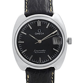 Omega Seamaster Cosmic Steel Black Dial Automatic Mens Watch 166.022.Tool.105