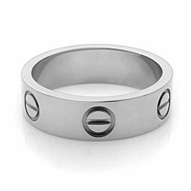 Cartier 18K White Gold Classic Love Ring Size 50 US 5.25