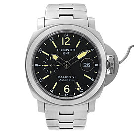Panerai Luminor GMT 44mm Stainless Steel Black Dial Automatic Men Watch PAM00297