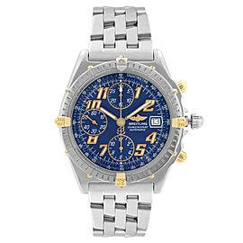 Breitling Chronomat Steel Chronograph Blue Dial Automatic Mens Watch B13050.1