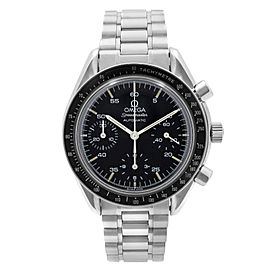 Omega Speedmaster 39mm Reduced Black Dial Steel Automatic Mens Watch 3510.50.00