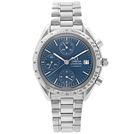 Omega Speedmaster Steel Chronograph Blue Dial Mens Automatic Watch 3511.80.00