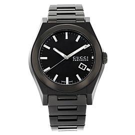 Gucci Pantheon 115 Black Ion Plated Steel Quartz Men's Watch YA115244