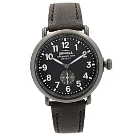 Shinola Runwell 41mm Steel Gunmetal Black Dial Quartz Mens Watch S0120077935