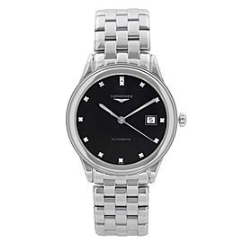 Longines Flagship Steel Black Diamond Dial Automatic Mens Watch L4.874.4.57.6