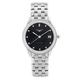 Longines Flagship Steel Black Diamond Dial Automatic Mens Watch L4.774.4.57.6