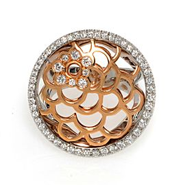 Luca Carati 18K White & Rose Gold Diamond Cocktail Ring 1.33Cttw Size 6.5