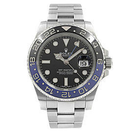 Rolex GMT-Master II Steels Batman Black Dial Automatic Mens Watch 116710BLNR