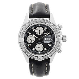Breitling Superocean Steel Diamond Black Dial Automatic Mens Watch A13340