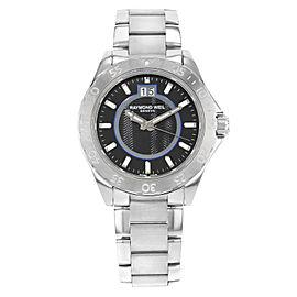 Raymond Weil RW Sport Stainless Steel Black Dial Quartz Mens Watch 8650-ST-20001