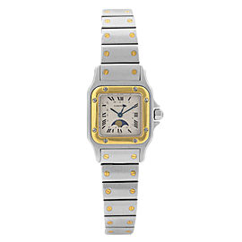 Cartier Santos Galbee Moonphase Steel Silver Dial Ladies Quartz Watch 119902