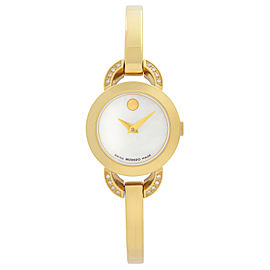 Movado Rondiro Gold-Tone Stainless Steel MOP Dial Quartz Ladies Watch 0606889