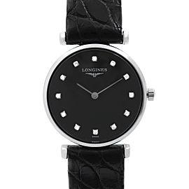 Longines La Grande Classique Steel Black Diamond Dial Ladies Watch L4.209.4.58.2