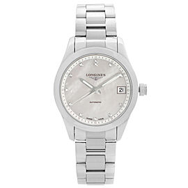 Longines Conquest Classic Steel MOP Dial Automatic Ladies Watch L2.385.4.87.6