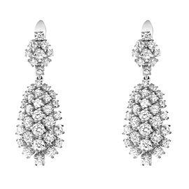 Rachel Koen 14K White Gold Diamond Drop Earrings 4.32Cttw