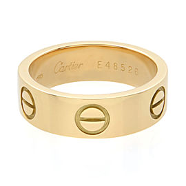 Cartier Love Ring 18K Yellow Gold Size 50 US 5.25
