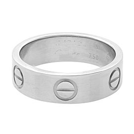 Cartier Love Ring 18K White Gold Size 51 US 5.75
