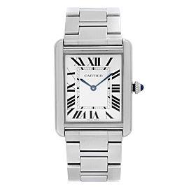 Cartier Tank Solo 27mm Stainless Steel Silver Dial Unisex Quartz Watch W5200014