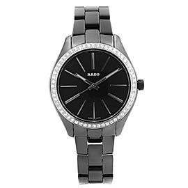Rado Hyperchrome Ceramic Diamond Bezel Black Dial Quartz Ladies Watch R32312152