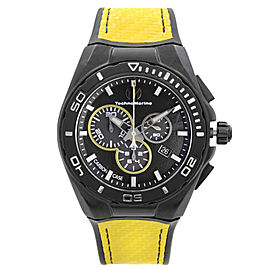 TechnoMarine Cruise Carbon 45mm Chronograph Black Dial Quartz Mens Watch 114001