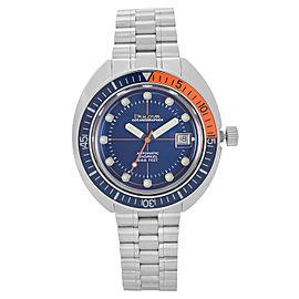 Bulova Oceanographer Devil Diver Steel Blue Dial Automatic Mens Watch 96B321