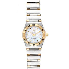 Omega Constellation Steel Yellow Gold Mother of Pearl Ladies Watch