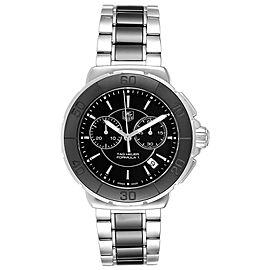 Tag Heuer Formula 1 Chronograph Steel Ceramic Unisex Watch CAH1210