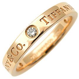 Tiffany & Co. 3P Diamond Rose Gold Flat Band Ring