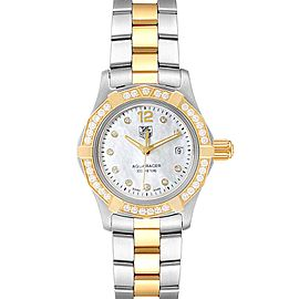 TAG Heuer Aquaracer Mother of Pearl Diamond Ladies Watch WAF1450