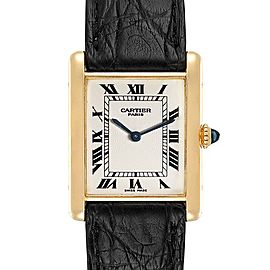 Cartier Tank Classic Paris Yellow Gold Ultra Thin Mechanical Mens Watch