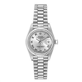 Rolex President Datejust White Gold Rhodium Dial Ladies Watch 69179