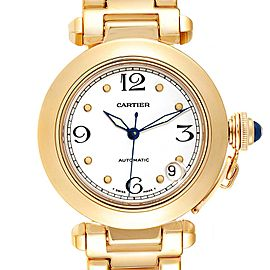 Cartier Pasha GMT 35mm 18K yellow Gold Mens Watch WJ1110H9