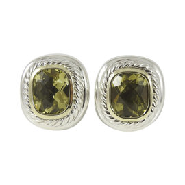 David Yurman Sterling Silver & 14K Yellow Gold Lemon Citrine Albion Earrings