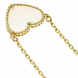 Van Cleef & Arpels 18k Yellow Gold Lucky Alhambra Heart Necklace