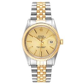 Rolex Datejust 36 Steel Yellow Gold Vintage Mens Watch 16013