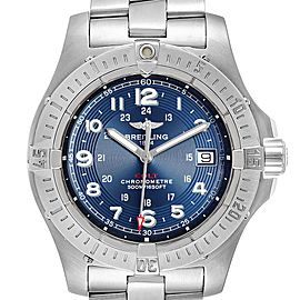 Breitling Colt Quartz Blue Dial Stainless Steel Mens Watch A74380